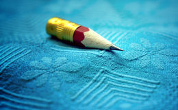 Tiny Pencil. A macro shot of a very short lead pencil Stock Photos