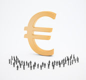 Tiny people currency Royalty Free Stock Photo