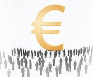 Tiny people currency Stock Photography