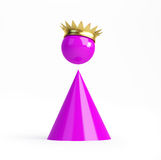 Tiny pink queen Royalty Free Stock Image
