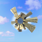 Tiny planet Almere Royalty Free Stock Photo