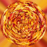 Tiny planet of Fall orange autumn leaves Royalty Free Stock Photography