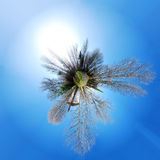 Tiny Planet Panorama Stock Photo