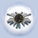 Tiny planet with skyscrapers Stock Photography