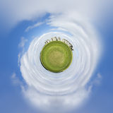 Tiny planet Stonehenge royalty free stock photos