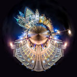 Tiny planet of Wroclaw Market Square with Town Hall Royalty Free Stock Photography