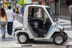Tiny Police Car Buenos Aires Argentina Stock Image