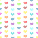 Tiny Polka dot hearts seamless background Royalty Free Stock Photography
