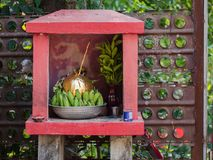 Tiny roadside shrine in Myanmar Stock Images