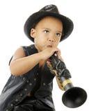 Tiny Rock Clarinetist Stock Photo