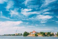 Tiny Rocky Island Near Helsinki, Finland Royalty Free Stock Image