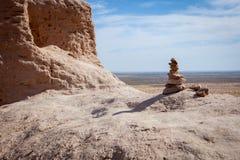 Tiny rocky pyramid royalty free stock photo