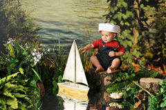 Tiny Sailor Royalty Free Stock Photo