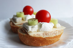 Tiny sandwiches Royalty Free Stock Images