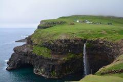Beautiful Gasadalur Village in Faroe Islands