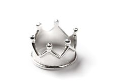Tiny silver crown Stock Photos