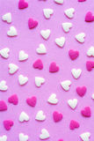 Tiny sugar hearts Royalty Free Stock Photos