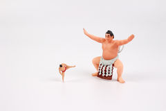 The tiny of Sumo Wrestler Royalty Free Stock Photos