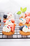 Tiny sweet treats with vanilla wafers Royalty Free Stock Images