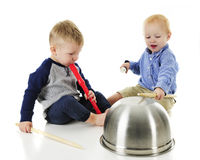 Tiny Toddler Band Royalty Free Stock Photos