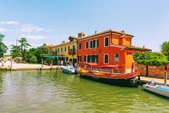 Tiny Torcello island has few residents but it`s often busy with Stock Images