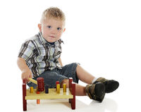 Tiny Tot with Hammer Toy Stock Photography