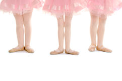 Tiny Tots Ballet Legs in Pink Tutu Royalty Free Stock Photography