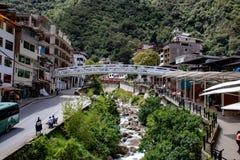 The Tiny Town of Machu Picchu. The small town of Machu Picchu, Peru royalty free stock photography