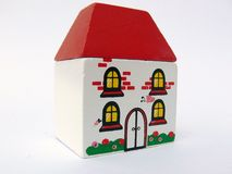 Tiny Toy House. With Red Roof royalty free stock image