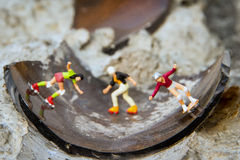 Tiny toy skaters Stock Photography