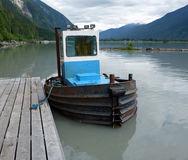 A tiny tug used in the logging industry in british columbia Royalty Free Stock Image