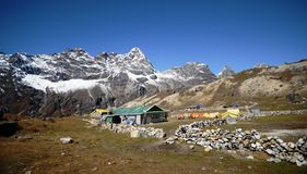 Tiny village in the Everest base camp trek Stock Photos