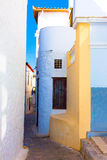 Tiny walk paths in Greek island Hydra Stock Image