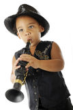 Tiny Wanna'be Musician Royalty Free Stock Images