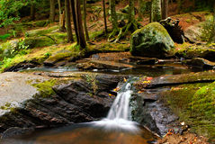 Tiny Waterfall. A small waterfall in a stream at High Falls Park in Muskoka. Shot in Bracebridge, Ontario, Canada royalty free stock photos