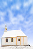 Tiny winter church or single snowbound small chapel Royalty Free Stock Photography
