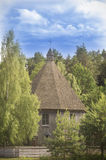 Tiny wooden church, Lithuania Stock Photos