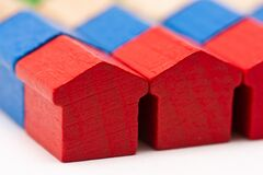 Free Tiny Wooden Toy Houses Painted In Different Colors Royalty Free Stock Photo - 193181945