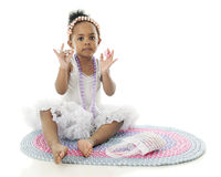 Tiny Young Girly Girl Stock Photos