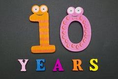 tio år Fotografering för Bildbyråer
