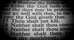 Tio commandments Royaltyfri Fotografi