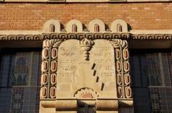 Tio Commandments i hebré Royaltyfria Bilder