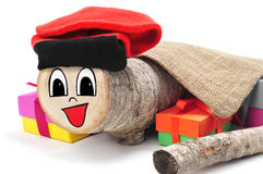 Tio de Nadal, typical of Catalonia, Spain, made by myself Royalty Free Stock Images