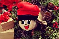 Tio de Nadal, typique de la Catalogne, Espagne, faite par me Photographie stock