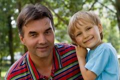 Tio e sobrinho Imagens de Stock