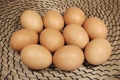 Tio hönas ägg Fotografering för Bildbyråer