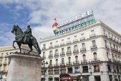 Tio Pepe sign in Puerta del Sol, Madrid, Spain Stock Image