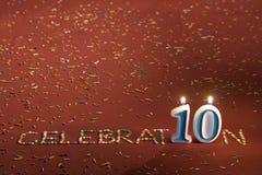 tio år Arkivbild
