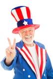 Tio Sam - sinal de paz Imagens de Stock
