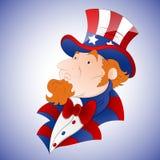 Tio Sam Vetor dos desenhos animados Fotos de Stock Royalty Free